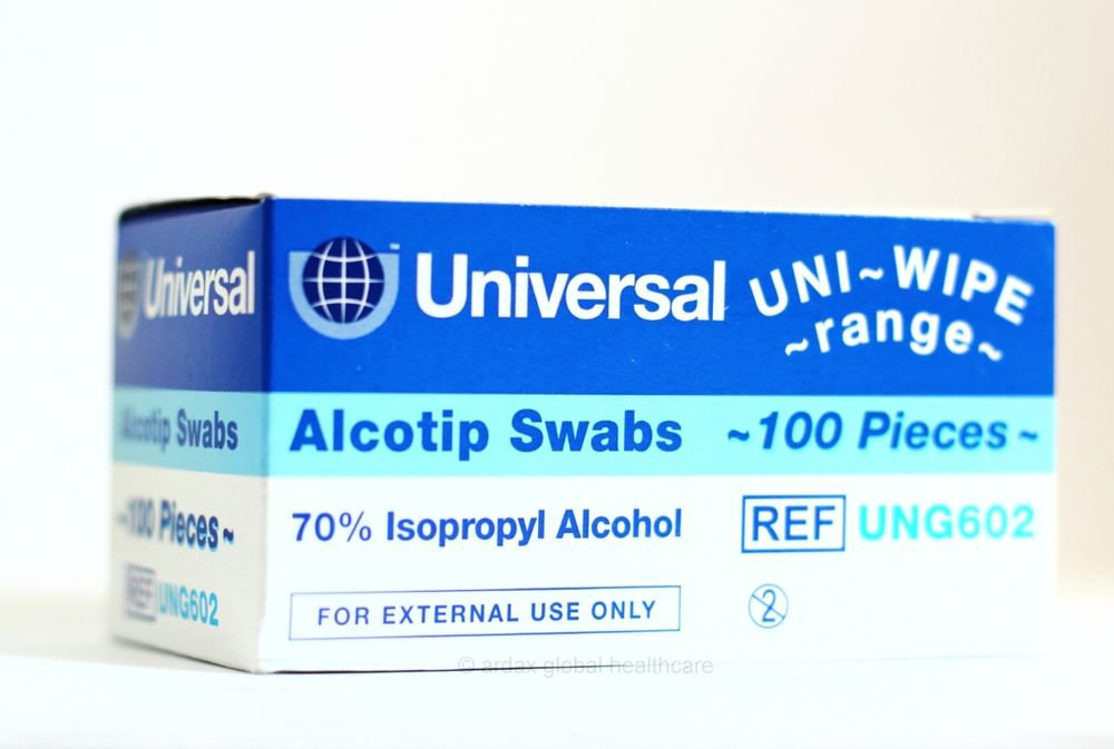 WIPES SWABS 70% ISOPROPYL ALCOHOL NHS QUALITY 100 SWABS