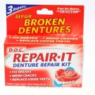 DENTURE REPAIR KIT DENTEMP D.O.C. X 3 REPAIRS PER PACK