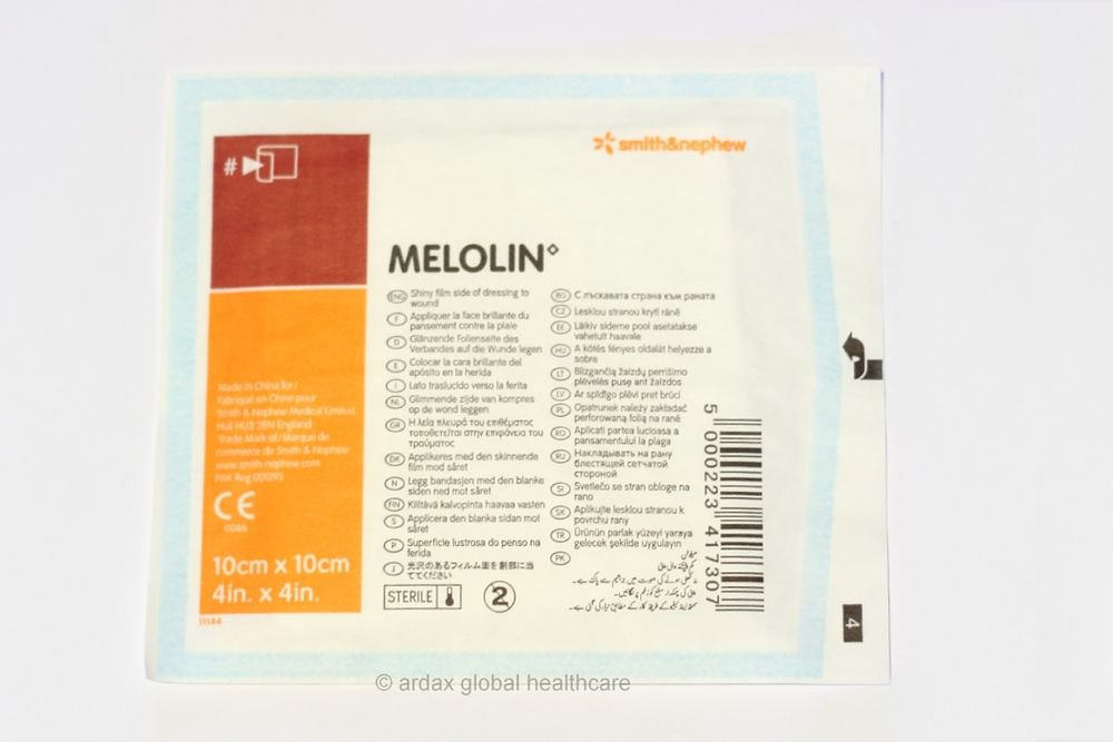 MELOLIN  DRESSING 10 X 10 CM 10 PCS IDEAL IN FIRST AID