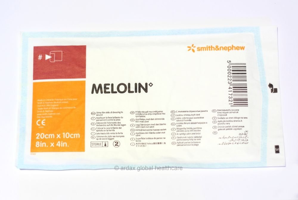MELOLIN DRESSING 20 X 10 CM FIRST AID, X10 PIECES
