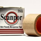 SCANPOR MICROPOROUS SKIN FRIENDLY HYPOALLERGENIC SURGICAL TAPE 2.5CM X 5M - TAN