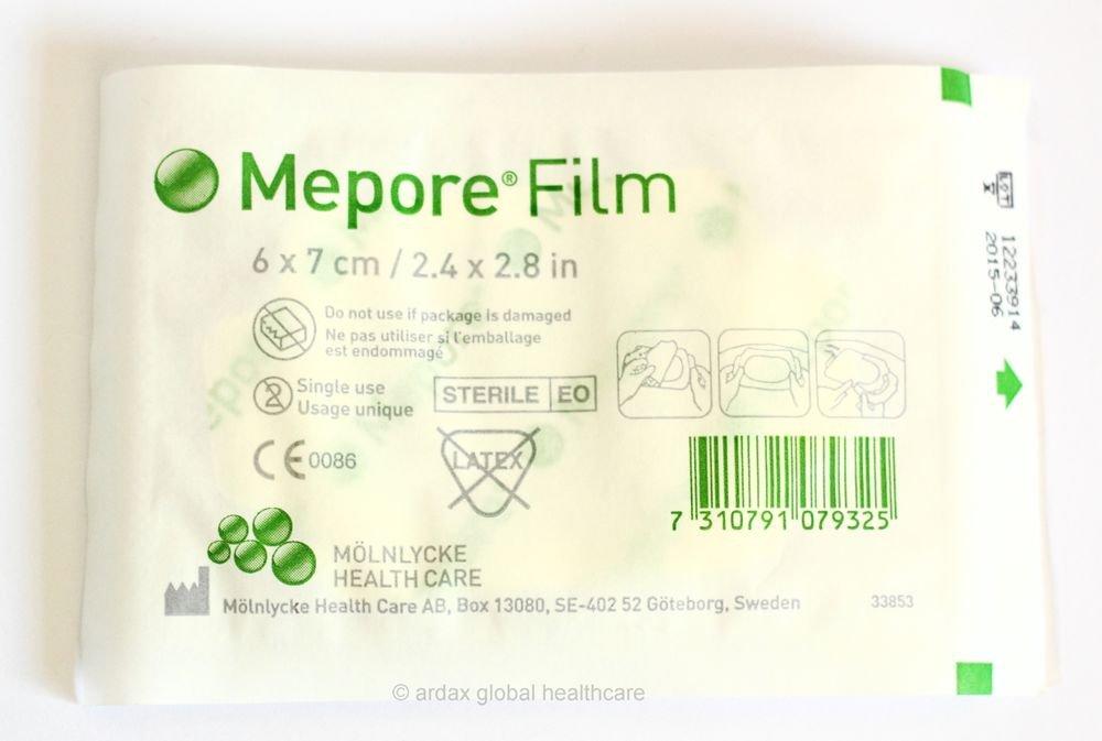 MEPORE FILM 6CM X 7CM ONE STERILE TRANSPARENT DRESSING