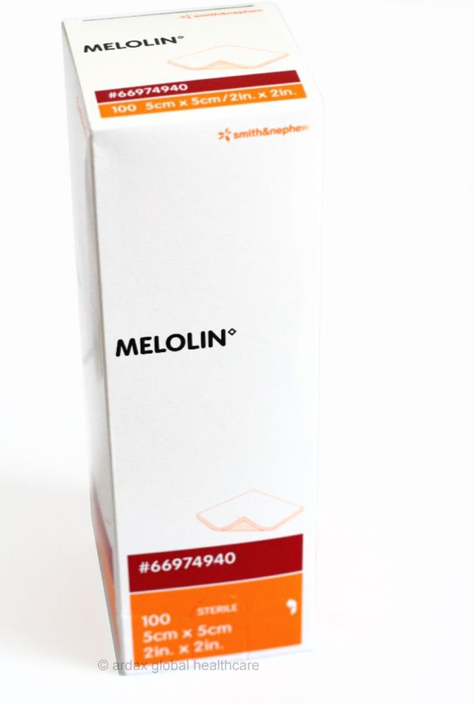 MELOLIN  DRESSING 5CM X 5 CM FOR  FIRST AID  SMITH & NEPHEW BRAND ONE BOX OF 100