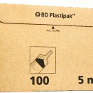 BD PLASTIPAK SYRINGE 5ML LUER  LATEX FREE 1 BOX OF 100!