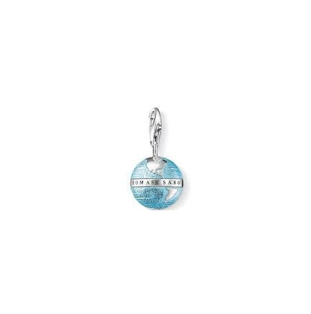 Globe Earth Charm Pendant Dangle fits European Charm Bracelet Story Locket Lobster Clasp