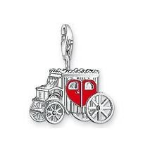 Wedding Carriage Charm Pendant Dangle fits European Charm Bracelet Story Locket Lobster Clasp
