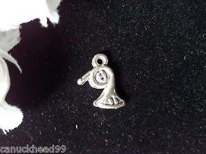 8pcs Tibetan Silver Metal Alloy Charm Charms Tiny Horn 13x9mm