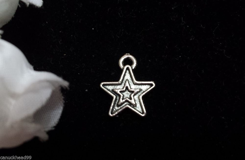 12pcs Tibetan Silver Metal Alloy Charm Charms Pendant Cute Stars 14x12mm