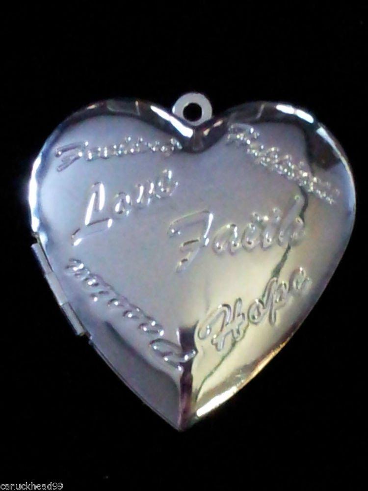 Silver Plated Heart Locket 45mmX40mm 2