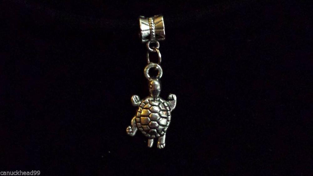 1pc Silver Tone Charm Dangle Spacer Large Hole Bead European Bracelet Turtle