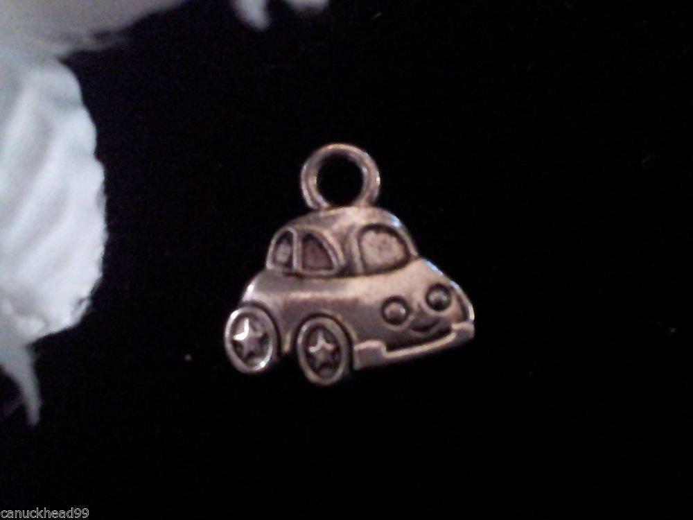 12pcs Tibetan Silver Metal Alloy Charm Charms Pendant Little Car 12x12mm