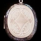 Silver Plated Oval Locket 47mmX40mm 1