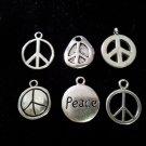 12pcs Tibetan Silver Metal Alloy Charm Charms Pendant Peace Signs Mix #4