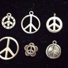 12pcs Tibetan Silver Metal Alloy Charm Charms Pendant Peace Signs Mix #7