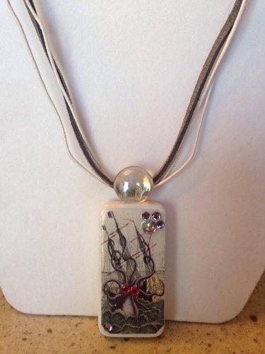 Octopus Ship Domino Necklace