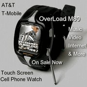 3PC Lot Overload M80 Unlocked Touch Screen Watch Cell Phone 3PC's