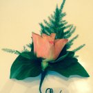Large gents pink Rose buttonhole