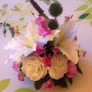 Small Artificial all round table posy.