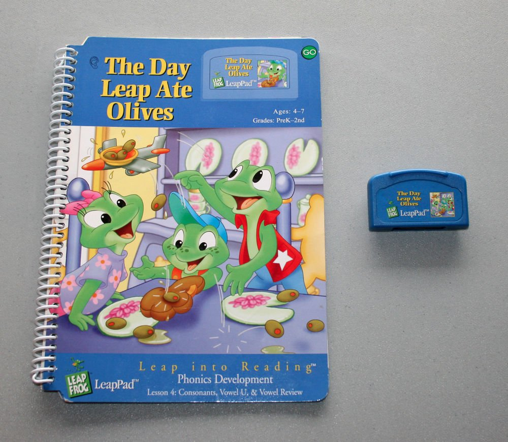 """LeapFrog LeapPad """"The Day Leap Ate Olives"""" - Interactive Book & Cartridge"""