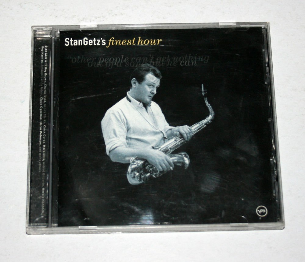 """Stan Getz """"Stan Getz's Finest Hour"""" (314 543 601-2) - CD / Compilation / Verve"""