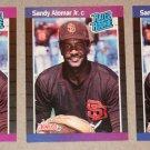 "Lot of (3) 1989 DONRUSS BASEBALL - Sandy Alomar Jr ""Rated Rookie"" Baseball Cards"