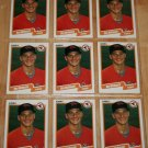 Lot of (9) 1990 FLEER BASEBALL - Ben McDonald Cards