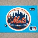 1985 FLEER BASEBALL - New York Mets Team Logo Blue Sticker Card