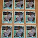 Lot of (9) 1990 FLEER BASEBALL - Greg Vaughn Cards