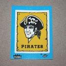 1985 FLEER BASEBALL - Pittsburgh Pirates Team Logo Blue Sticker Card