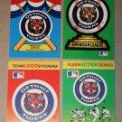 Lot of (4) FLEER BASEBALL - Detroit Tigers Team Logo Sticker Cards