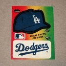 1984 FLEER BASEBALL - Los Angeles Dodgers Team Logo & Hat Sticker Card