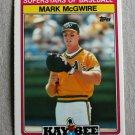 "1989 TOPPS BASEBALL ""Kay Bee: Superstars of Baseball"" - Mark McGwire (#21)"