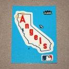 1985 FLEER BASEBALL - California Angels Team Logo Blue Sticker Card