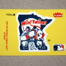 1986 FLEER BASEBALL - Minnesota Twins Team Logo Yellow Sticker Card