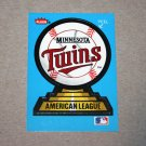 1987 FLEER BASEBALL - Minnesota Twins Team Logo Sticker Card