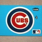 1985 FLEER BASEBALL - Chicago Cubs Team Logo Blue Sticker Card