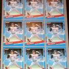 Lot of (9) 1991 DONRUSS BASEBALL - Jim Abbott Cards
