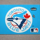 1985 FLEER BASEBALL - Toronto Blue Jays Team Logo Blue Sticker Card