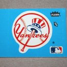 1985 FLEER BASEBALL - New York Yankees Team Logo Blue Sticker Card