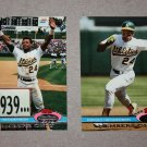 "Lot of (2) 1991 TOPPS STADIUM CLUB BASEBALL ""Members Only"" Rickey Henderson"