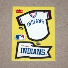 1985 FLEER BASEBALL - Cleveland Indians Team Jersey & Flag Yellow Sticker Card