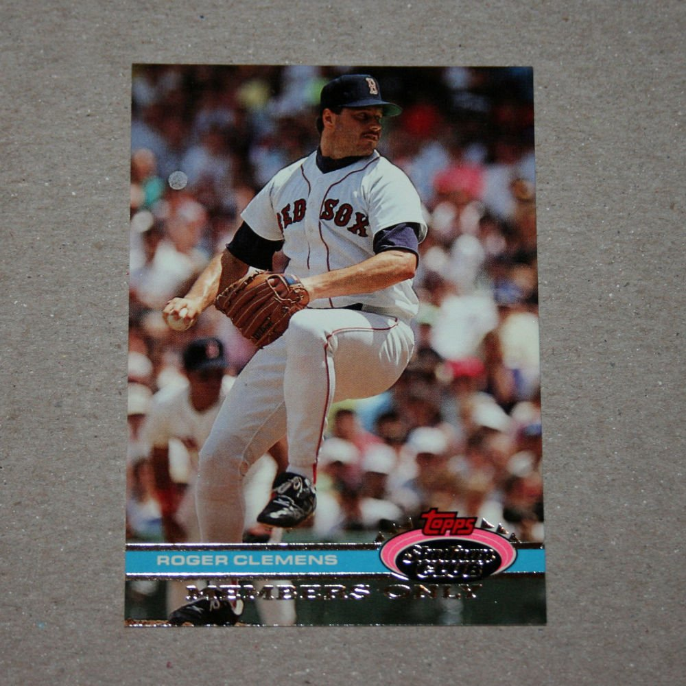 "1991 TOPPS STADIUM CLUB BASEBALL ""Members Only"" Roger Clemens"