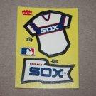 1985 FLEER BASEBALL - Chicago White Sox Team Jersey & Flag Yellow Sticker Card