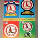 Lot of (4) FLEER BASEBALL - St. Louis Cardinals Team Logo Sticker Cards