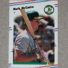 """1988 FLEER BASEBALL """"Mini"""" - Mark McGwire (#46) Glossy"""