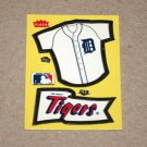 1985 FLEER BASEBALL - Detroit Tigers Team Jersey & Flag Yellow Sticker Card