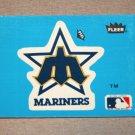 1985 FLEER BASEBALL - Seattle Mariners Team Logo Blue Sticker Card
