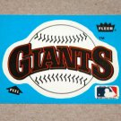 1985 FLEER BASEBALL - San Francisco Giants Team Logo Blue Sticker Card