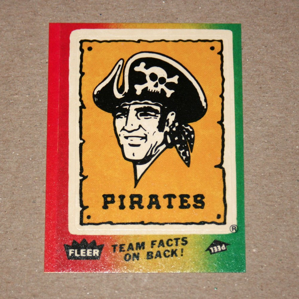 1984 FLEER BASEBALL - Pittsburgh Pirates Team Logo Sticker Card