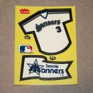 1985 FLEER BASEBALL - Seattle Mariners Team Jersey & Flag Yellow Sticker Card